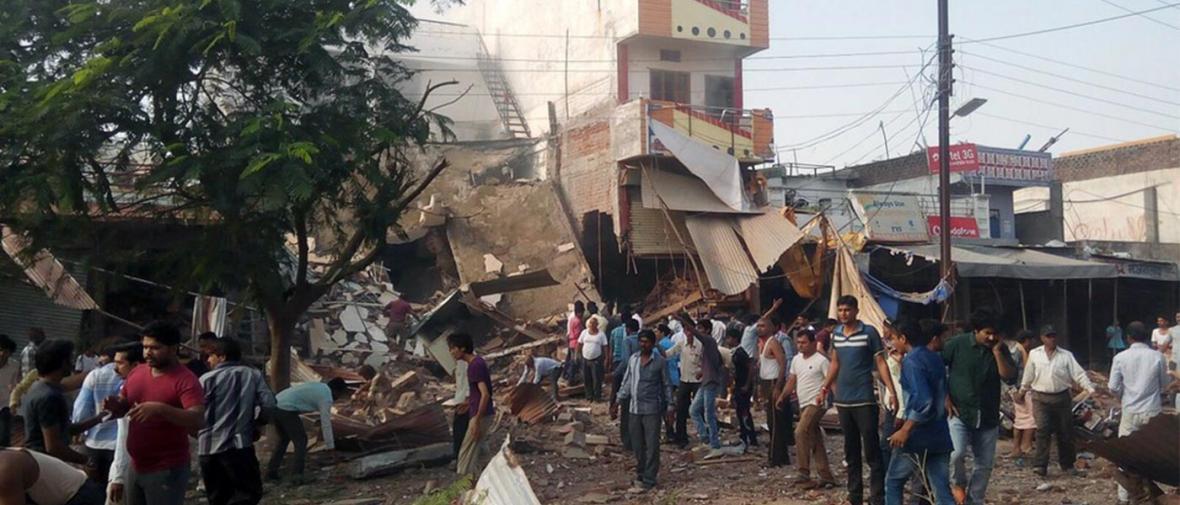 انفجار کپسول گاز در رستورانی در هند 82 کشته داد