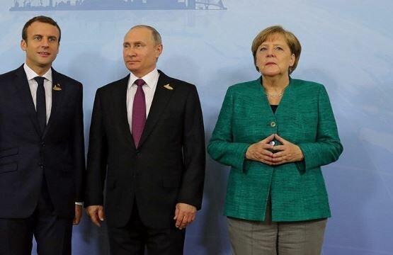 گفت وگوی سران آلمان، فرانسه و روسیه درباره ادلب سوریه