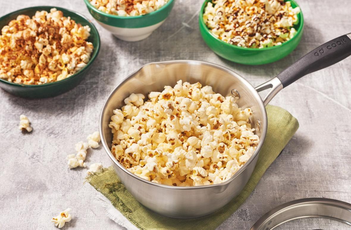 طرز تهیه انواع پاپ کورن خانگی کاراملی، کچاپی و پنیری و سرکه ای و &hellip
