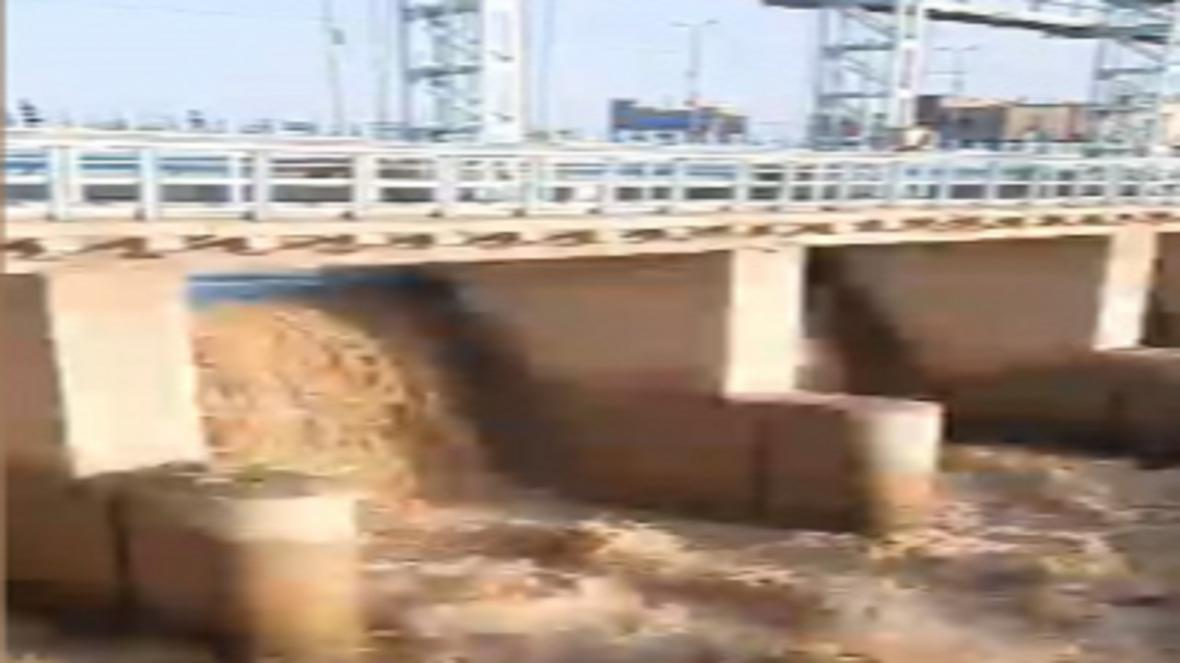 طغیان رودخانه در شهر زهک