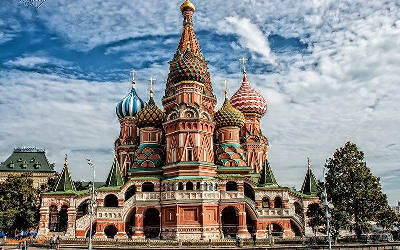 رنگارنگ ترین بنای دنیا، کلیسای جامع سنت باسیل مسکو