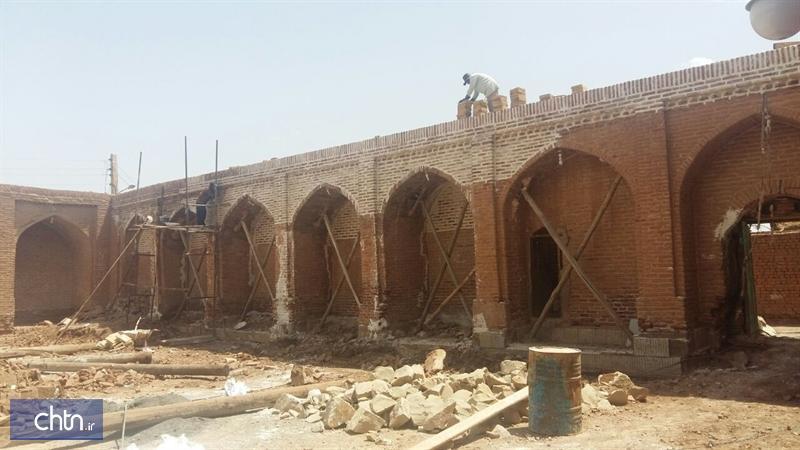 انتها مرحله نخست بازسازی اضطراری مسجد جامع چشام در داورزن