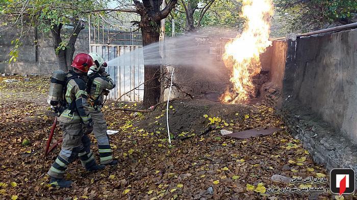 شکستگی لوله اصلی گاز آتش به پا کرد