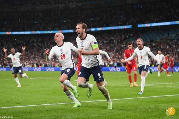 انگلیس برای اولین مرتبه فینالیست جام ملت های اروپا شد